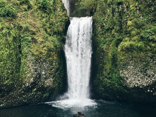 how to test water pressure in your house waterfall over green cliff